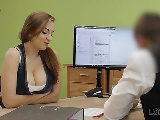 A university graduate seduces her future boss with her heart of hearts and fucks him good