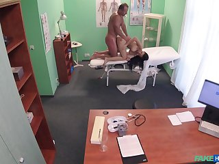 Hot to trot babe fucked hard by the doctor and taped in secret