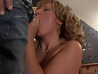 Beautiful granny Lorin has an affair with handsome lad