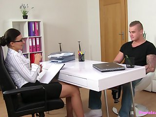 Erotic desires during job interview leads the hot Adult to crave be expeditious for cock