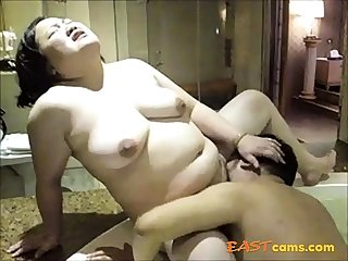 Amateur Asian mature fingered