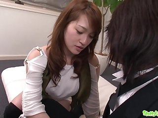 Spectacular Japanese babe gets unmitigatedly nasty with the brush boyfriend - blowing absent
