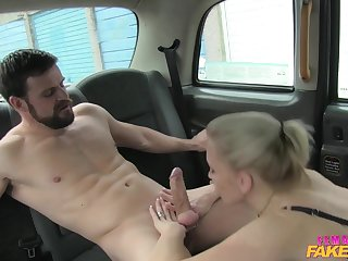 Rebecca Nigh makes love just about lucky passenger in the brush car