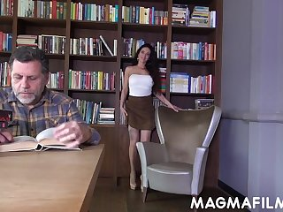 Old fart becomes an representing hot slut's desires and lose concentration bimbo loves intercourse