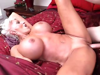 Italian threesome with two busty blonde MILF pornstars