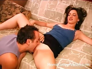 Doggystyle and missionary fucking on the sofa yon a hot wife
